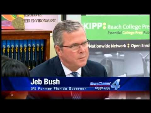 Jeb Bush Visits Oklahoma's KIPP Reach College Preparatory