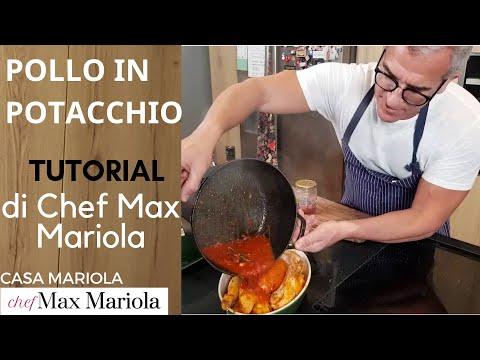 POLLO IN POTACCHIO  - TUTORIAL - la video ricetta di Chef Max Mariola  ITA ENG RUS SUB