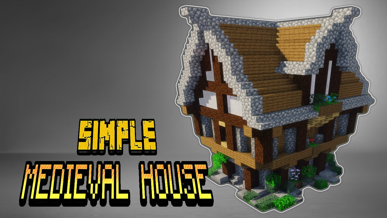 Simple Medieval House Minecraft Building Tutorial