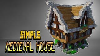 SIMPLE MEDIEVAL HOUSE Minecraft Building Tutorial