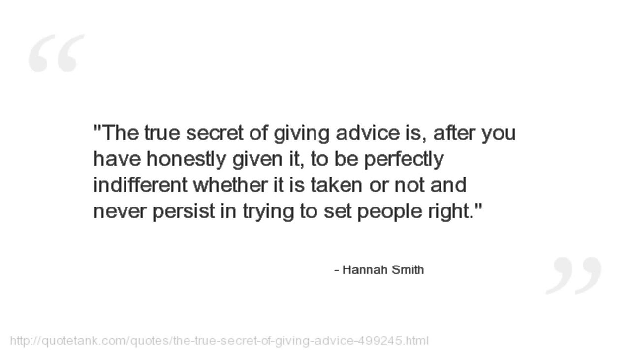 Hannah Smith Quotes
