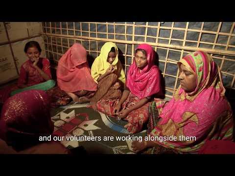 Heavy monsoon rains in the Rohingya refugee camps