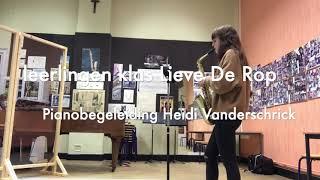 Week Belgische muziek Saxklas Lieve De Rop