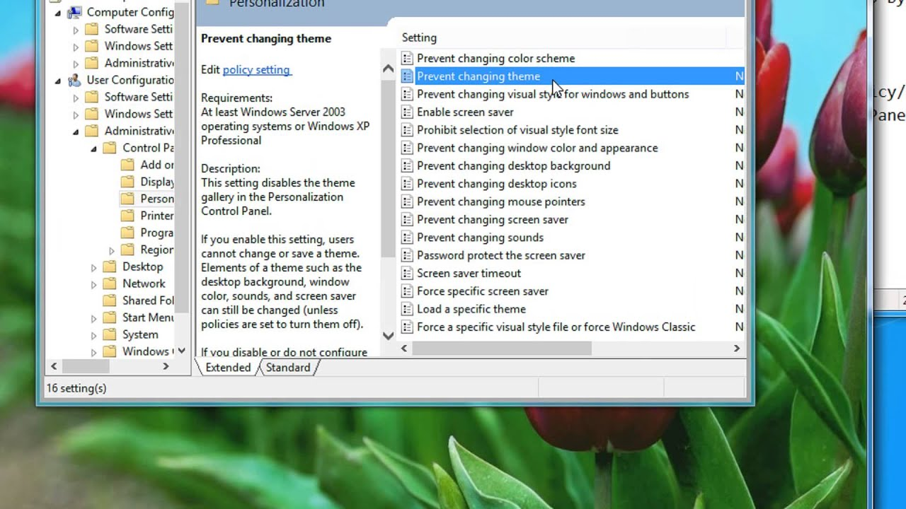 restrict account users from changing personalization settings in windows 7 or 8 a tutorial