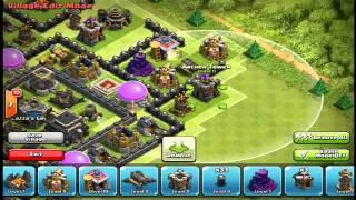 Clash of clans-village hdv 9 rush et farm cool !