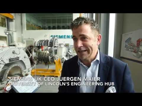 Siemens UK CEO Juergen Maier opens Lincoln Engineering Hub expansion