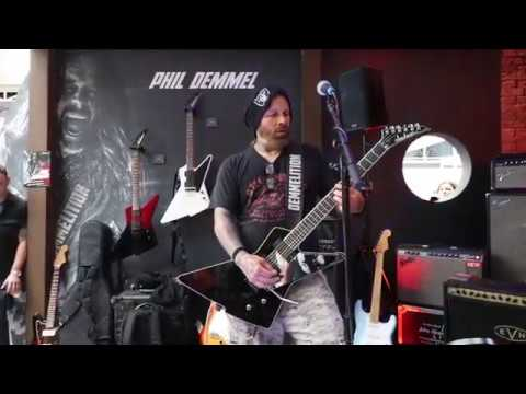 Phil Demmel On Jackson Demmelition Performing At The UK Guitar Show 2019