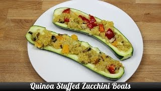 Quinoa Stuffed Zucchini Boats - Recipe [delicious Food Adventures]