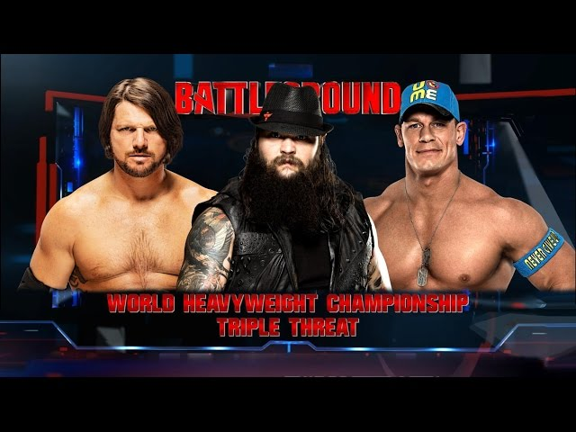 WWE 2K16 PC - John Cena vs Bray Wyatt vs AJ Styles - World Heavyweight Championship