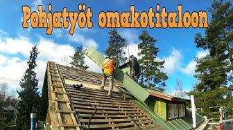 Kattoremontti  - Pohjatyöt, Tyvekpro ja korotus