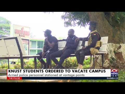 Heavy security presence at KNUST campus as students pack out - The Pulse on JoyNews (17-9-21)