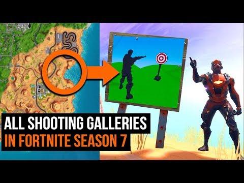 All Shooting Gallery Locations in Fortnite - Season 7 Week 10 Challenges