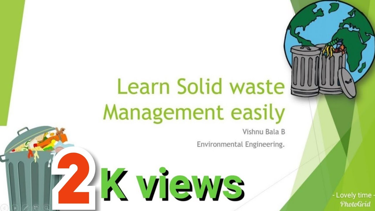 Learn Solid Waste Management Easily English And Tamil Youtube