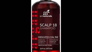 ArtNaturals Dandruff Shampoo, Coal Tar with Argan Oil, Scalp18 Therapeutic Treatment Helps Anti Itch