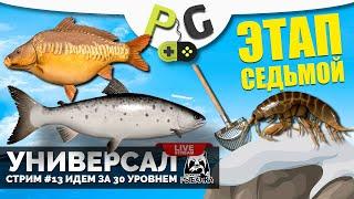 Русская Рыбалка 4 Стрим Прокачка УНИВЕРСАЛА для 7 го этапа Стрим 13 Идем к 30 уровню