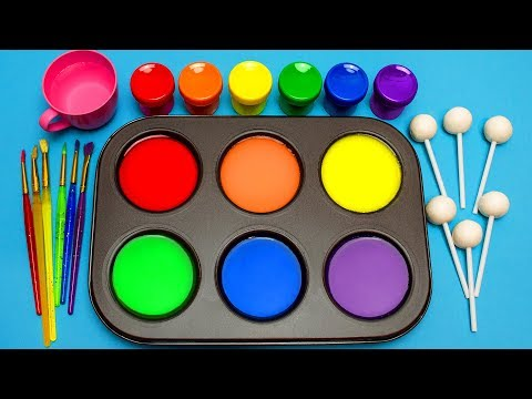 How To Make Frozen Paint with Rainbow Colors & Surprise Toys for Kids, Children, Babies and Toddlers