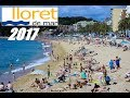 Fenals Beach - Lloret de Mar, Costa Brava , Catalonia, SPAIN 2017