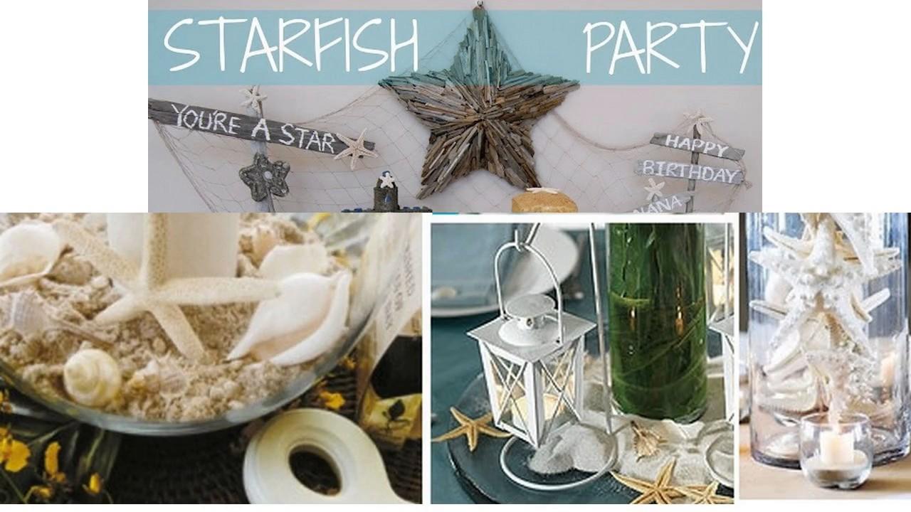 Decoraciones de estrellas de mar youtube - Decoracion con estrellas ...