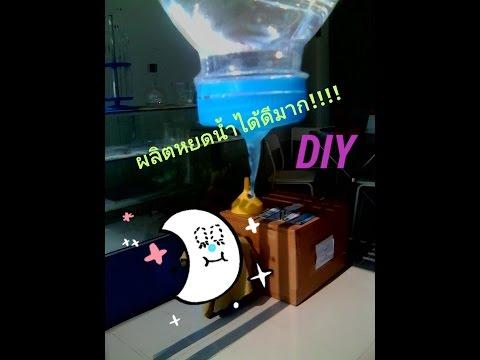 DlY: วิธีขวดน้ำหยดรดน้ำต้นไม้ง่ายๆ.