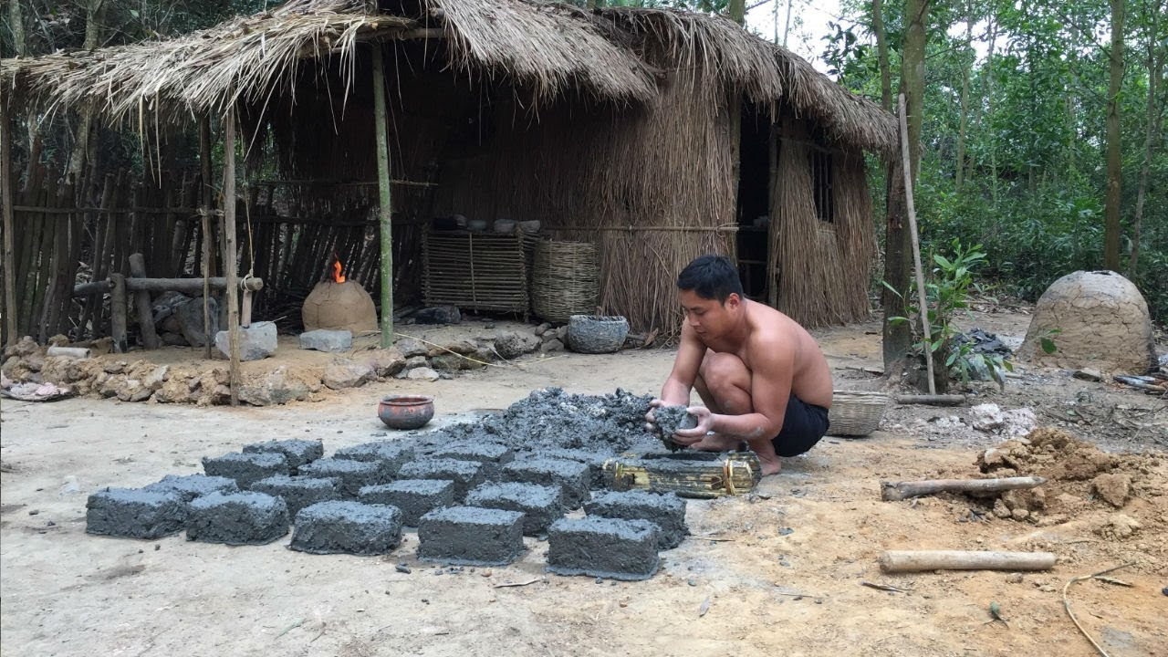 Primitive Technology:Brick from Lime Slag-Primitive life-wilderness