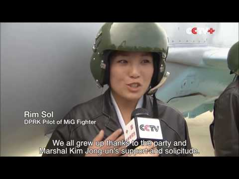 North Korea - Female Fighter Pilots Interviewed [English]
