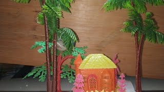 How to make decorative house for toys // make for easy