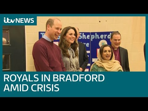 William and Kate visit Bradford amid tumultuous times for royals | ITV News