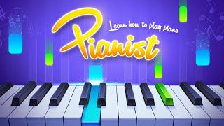 The best piano app for Android - Pianist HD Finger Tap Piano Tutorial screenshot 2