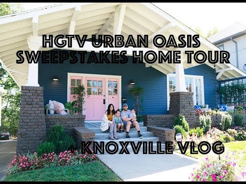 Knoxville, Tennessee Travel VLOG + Tour of the HGTV Urban Oasis Sweepstakes Home!