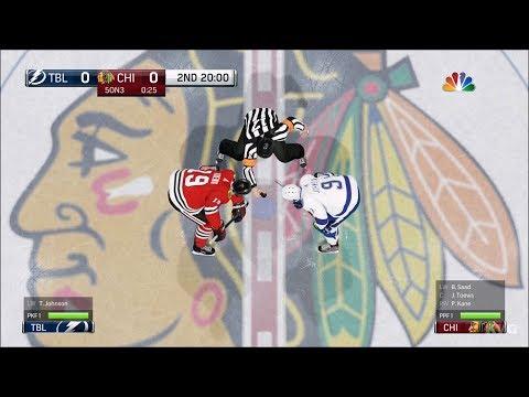 NHL 18 - Chicago Blackhawks vs Tampa Bay Lightning - Gameplay (HD) [1080p60FPS]
