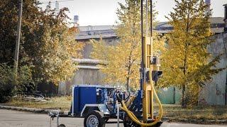 Оборудование для бизнеса Малогабаритная буровая установка МГБУ ТМ 80 работа