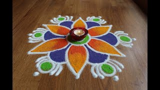 Daily small rangoli designs with colours by Shital Daga