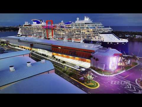 Port Everglades Cruise Terminal 25 Time Lapse