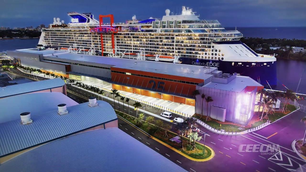 Port Everglades Cruise Schedule 2020.Port Everglades Cruise Terminal 25 Time Lapse