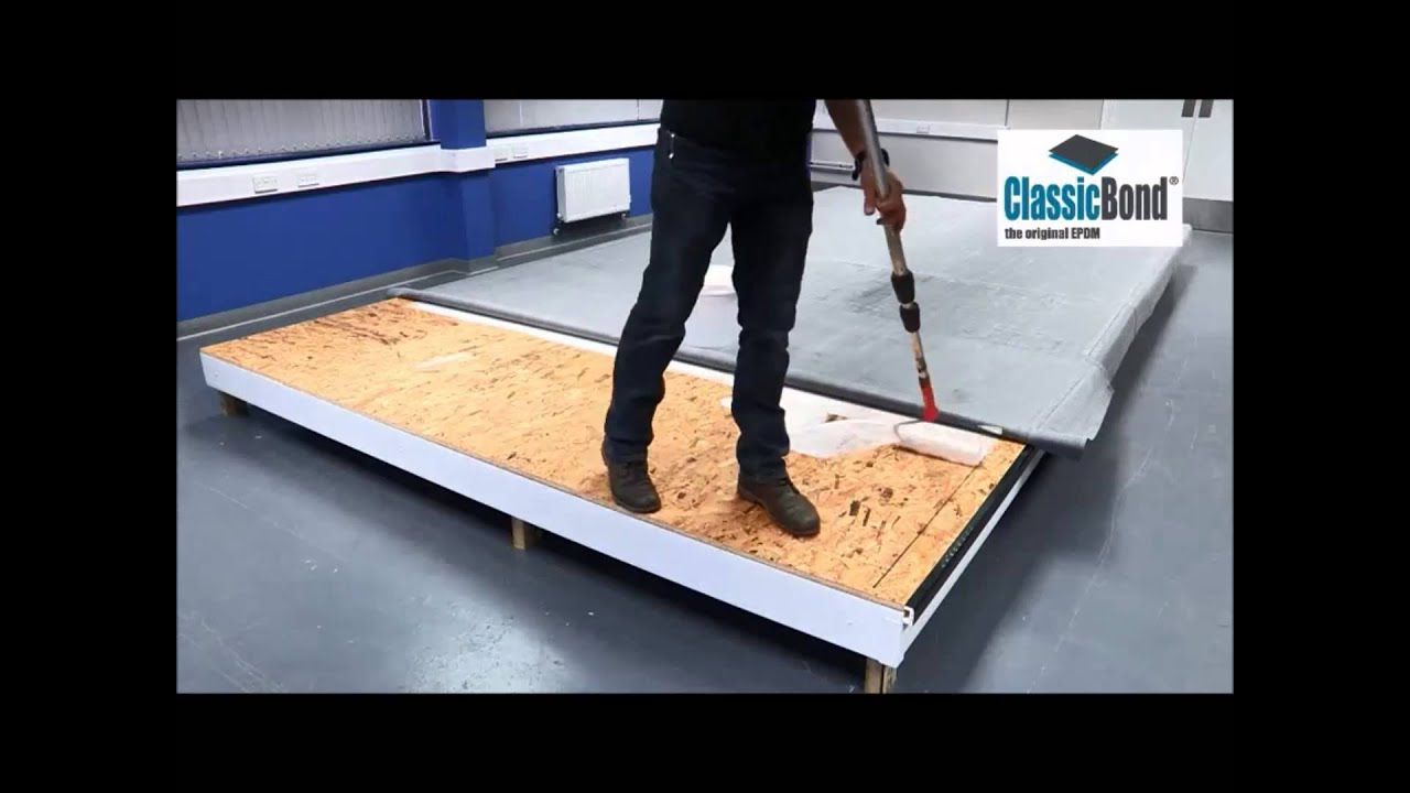 How To Install A Classicbond Epdm Flat Roof Youtube