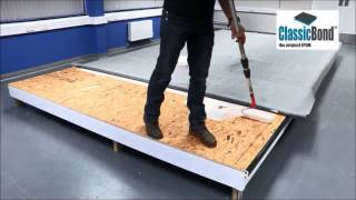 How to install a Classicbond EPDM flat Roof