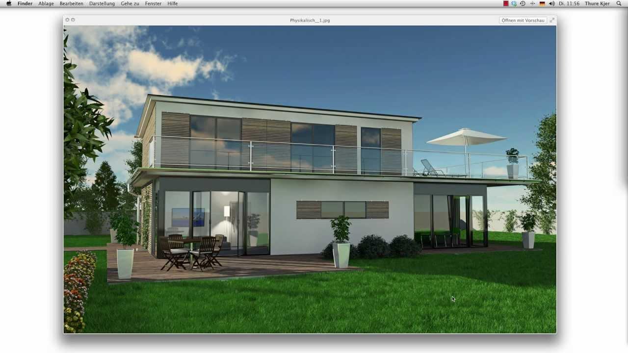 Architektur haus visualisierung einer au enszene f r for Cinema 4d architektur
