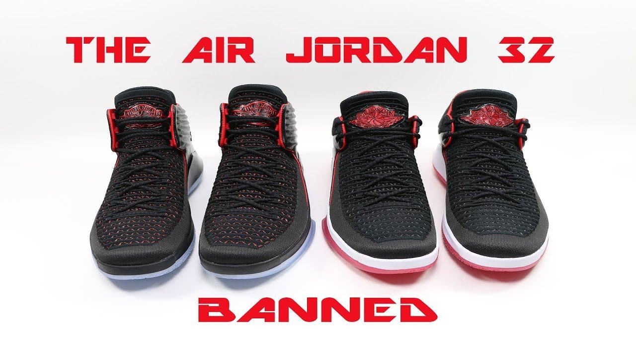 Air Jordan 32 XXXII Banned High \u0026 Low