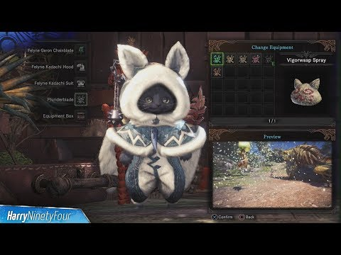 Monster Hunter World - All Palico Gadget Locations Guide