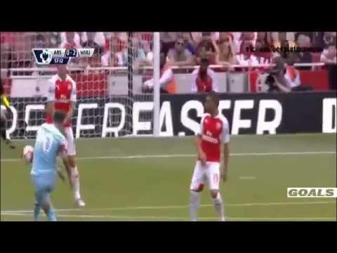 Arsenal vs West Ham 0 2 2015   Mauro Zarate Goal