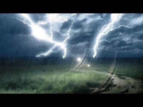 STEADY RAIN & THUNDER | White Noise For Studying, Writing & Sleeping | 10 Hours
