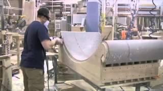 видео Производство акрилового камня