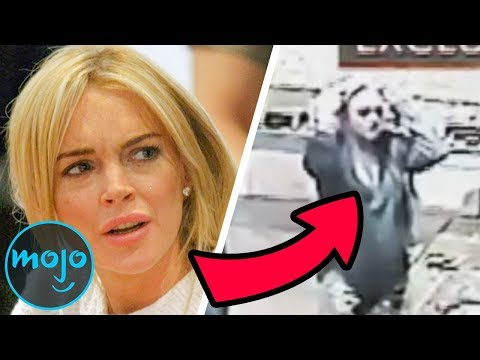Top 10 Celebs Caught On Camera Breaking the Law