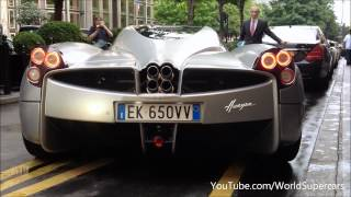Pagani Huayra Start Up, Sound and Bugatti Combo !
