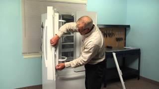 Refrigerator Repair - Replacing the Mullion Rail  (Whirlpool Part # 12722803W)