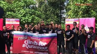22 people including Rosyam Nor walk up KL Tower to promote #QuranHour