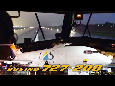 Boeing 727-200F ULTIMATE COCKPIT MOVIE - Multicam Bogota-Panama! [AirClips full flight series]