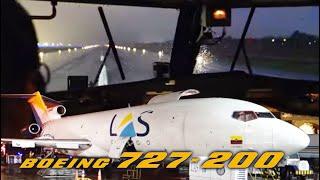 boeing 727 200f ultimate cockpit movie multicam bogota panama airclips full flight series