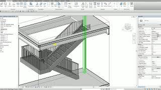 ريفيت هيكل الدرس 13 كيفية إنشاء شكل U و متجانسة الدرج