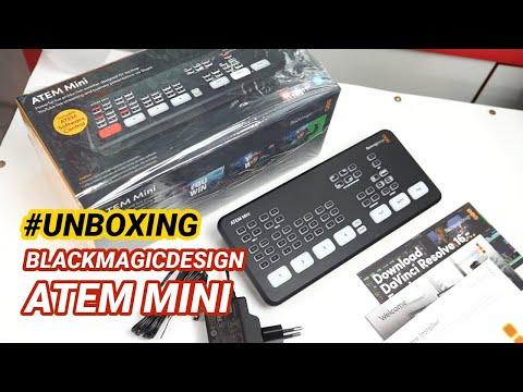 Unboxing Blackmagic Atem Mini Indonesia - Switcher Capture Card 4 Input HDMI